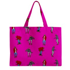 Hotline Bling Pink Background Zipper Mini Tote Bag by Onesevenart