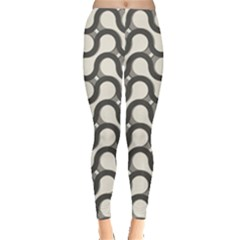 Shutterstock Wave Chevron Grey Leggings  by Alisyart