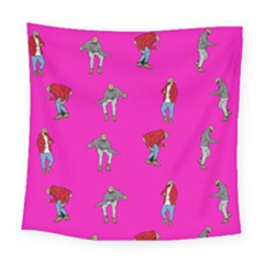 Hotline Bling Pink Background Square Tapestry (large) by Onesevenart