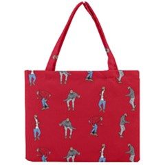 Hotline Bling Red Background Mini Tote Bag by Onesevenart