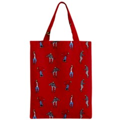 Hotline Bling Red Background Zipper Classic Tote Bag by Onesevenart