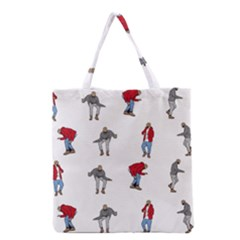 Hotline Bling White Background Grocery Tote Bag by Onesevenart