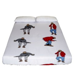 Hotline Bling White Background Fitted Sheet (king Size) by Onesevenart