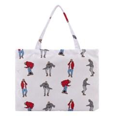 Hotline Bling White Background Medium Tote Bag by Onesevenart