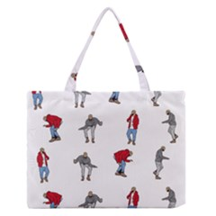 Hotline Bling White Background Medium Zipper Tote Bag by Onesevenart