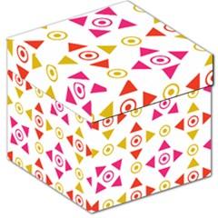 Spectrum Styles Pink Nyellow Orange Gold Storage Stool 12   by Alisyart