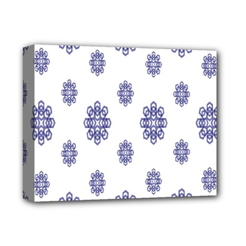 Snow Blue White Cool Deluxe Canvas 14  X 11  by Alisyart