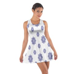 Snow Blue White Cool Cotton Racerback Dress