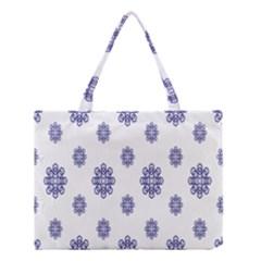 Snow Blue White Cool Medium Tote Bag by Alisyart