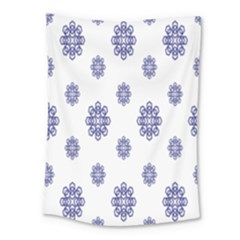 Snow Blue White Cool Medium Tapestry by Alisyart