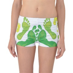 Soles Feet Green Yellow Family Boyleg Bikini Bottoms by Alisyart
