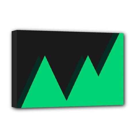Soaring Mountains Nexus Black Green Deluxe Canvas 18  X 12   by Alisyart