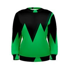 Soaring Mountains Nexus Black Green Women s Sweatshirt by Alisyart