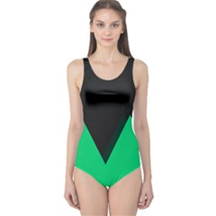 Soaring Mountains Nexus Black Green One Piece Swimsuit by Alisyart