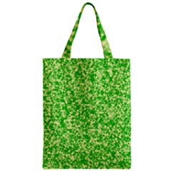 Specktre Triangle Green Zipper Classic Tote Bag by Alisyart