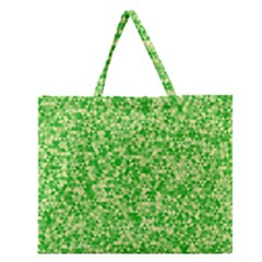 Specktre Triangle Green Zipper Large Tote Bag by Alisyart