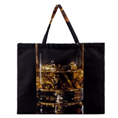 Drink Good Whiskey Zipper Large Tote Bag by Onesevenart