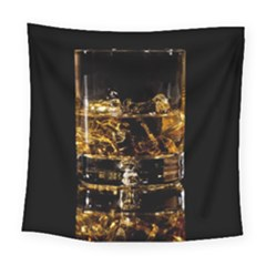 Drink Good Whiskey Square Tapestry (large) by Onesevenart