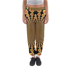 Psychedelic Sunflower Women s Jogger Sweatpants by Photozrus