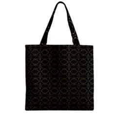 Dark Interlace Tribal  Zipper Grocery Tote Bag by dflcprints