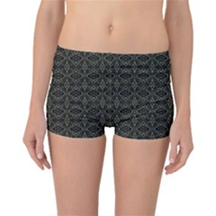 Dark Interlace Tribal  Boyleg Bikini Bottoms