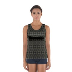Dark Interlace Tribal  Women s Sport Tank Top  by dflcprintsclothing