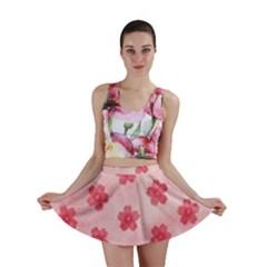 Watercolor Flower Patterns Mini Skirt by TastefulDesigns