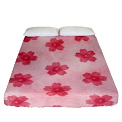 Watercolor Flower Patterns Fitted Sheet (queen Size) by TastefulDesigns