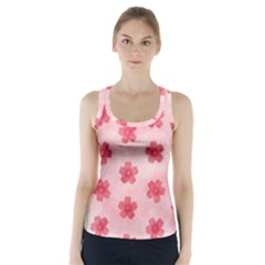 Watercolor Flower Patterns Racer Back Sports Top by TastefulDesigns
