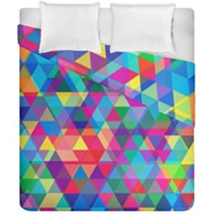 Colorful Abstract Triangle Shapes Background Duvet Cover Double Side (california King Size) by TastefulDesigns