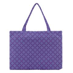 Abstract Purple Pattern Background Medium Tote Bag by TastefulDesigns