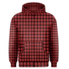 Red Plaid Men s Zipper Hoodie by PhotoNOLA