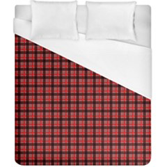 Red Plaid Duvet Cover (california King Size) by PhotoNOLA