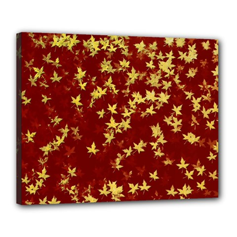 Background Design Leaves Pattern Canvas 20  X 16  by Simbadda