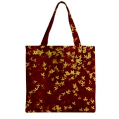 Background Design Leaves Pattern Grocery Tote Bag by Simbadda