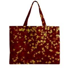 Background Design Leaves Pattern Medium Tote Bag by Simbadda