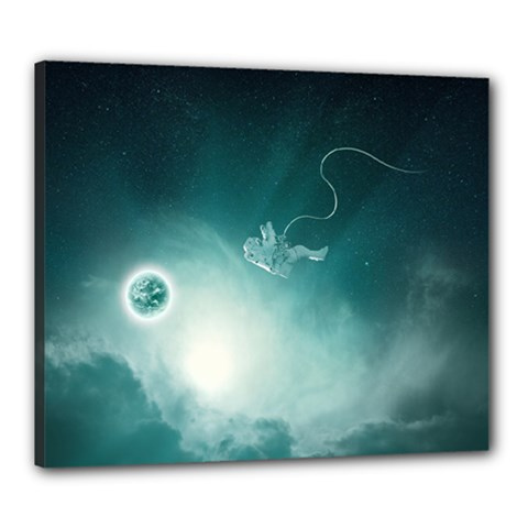 Astronaut Space Travel Gravity Canvas 24  X 20  by Simbadda