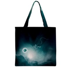 Astronaut Space Travel Gravity Grocery Tote Bag by Simbadda
