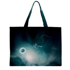 Astronaut Space Travel Gravity Zipper Mini Tote Bag