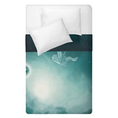Astronaut Space Travel Gravity Duvet Cover Double Side (single Size) by Simbadda