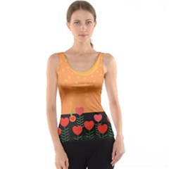 Love Heart Valentine Sun Flowers Tank Top by Simbadda