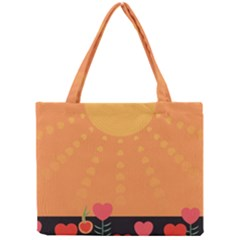 Love Heart Valentine Sun Flowers Mini Tote Bag by Simbadda