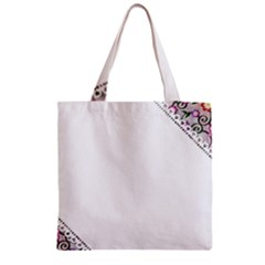 Floral Ornament Baby Girl Design Zipper Grocery Tote Bag by Simbadda