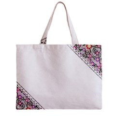 Floral Ornament Baby Girl Design Zipper Mini Tote Bag by Simbadda