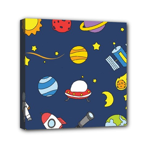 Space Background Design Mini Canvas 6  X 6  by Simbadda