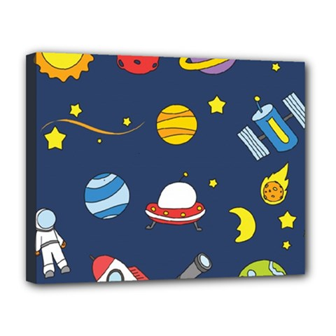 Space Background Design Canvas 14  X 11  by Simbadda