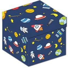 Space Background Design Storage Stool 12   by Simbadda