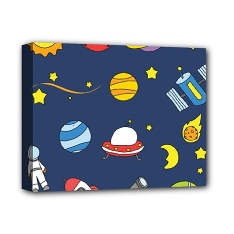 Space Background Design Deluxe Canvas 14  X 11  by Simbadda
