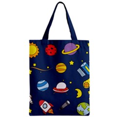 Space Background Design Zipper Classic Tote Bag by Simbadda