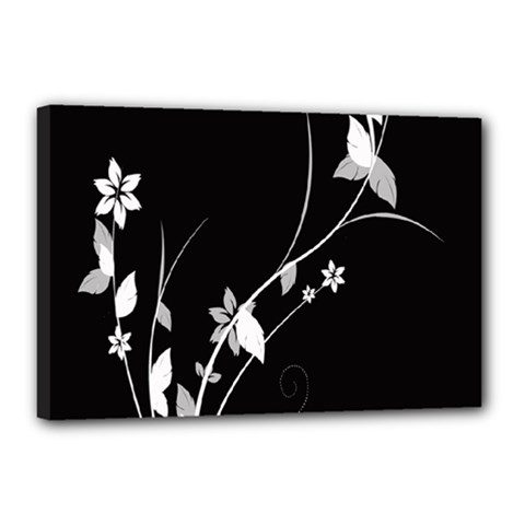 Plant Flora Flowers Composition Canvas 18  X 12  by Simbadda